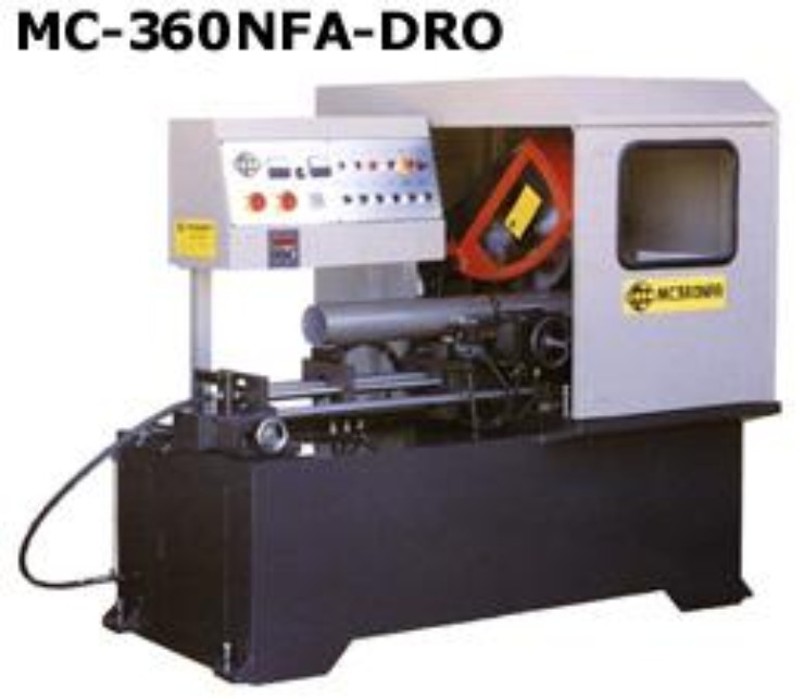 Automatic Non-Ferrous Circular Saw Soco MC-360NFA+DRO Sold & Serviced by Industry Saw & Machinery Sales
