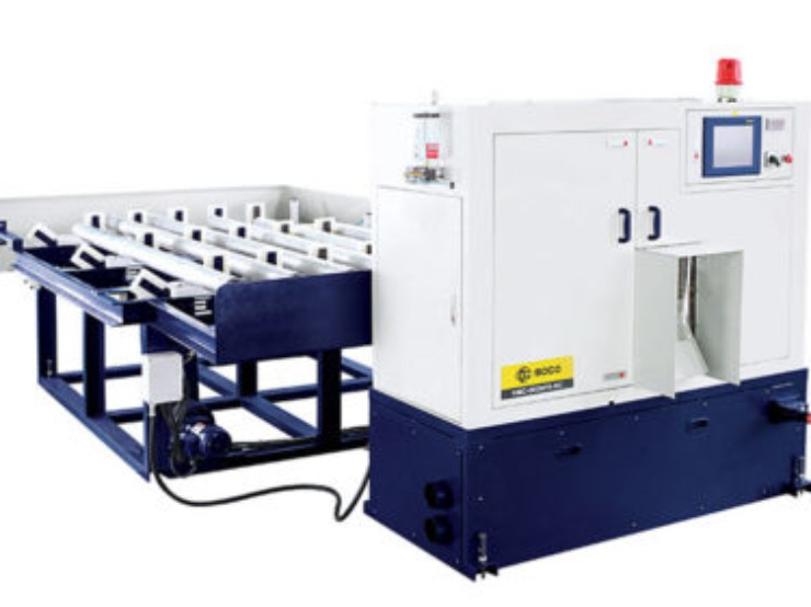 High Production Aluminum Saw Cutting Machine Soco HMC-600NFA-NC - Industy Saw