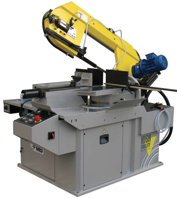 FMB Galactic offers semi automatic operation of the cutting cycle, hydraulic clamping, positive hydraulic cutting pressure and auto return after the cutting cycle