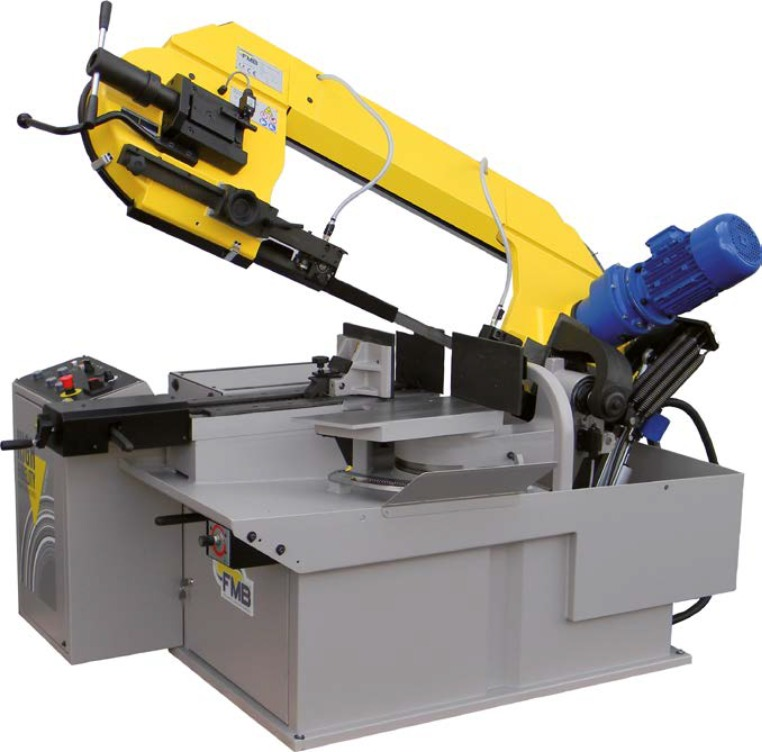 "FMB Pegasus GV featuring FMB Direct Drive System to Produce Torque from 95% of the HP. This machine has the cutting torque and 1-1/4"" wide blade to cut your large parts effeciently and accurately."