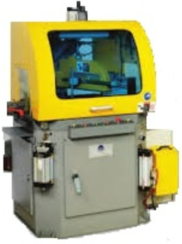 PMI Upcut  Saw for straight and miter cutting of aluminum extrusions or profiles that require precison cuts and clean mirror finish cut, Sold & Serviced by Industry Saw & Machinery Sales