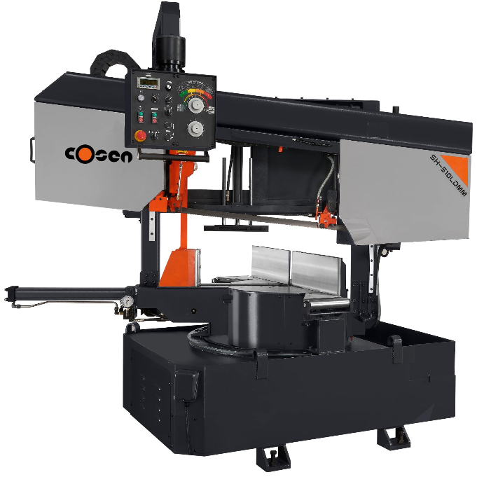 Heavy duty double column, double miter semi-automatic band saw Cosen SH-510LDMB