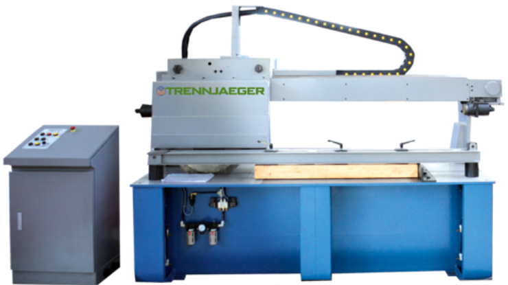 Cutting steel bar grating using Trennjaeger Friction Saw
